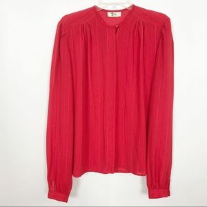 Tops - Vintage | Blouse | Large | Red